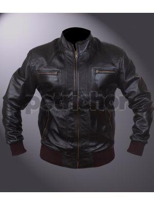Men's Dylan Black Bomber Jacket