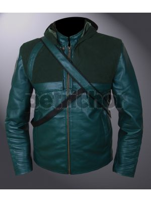 Green Arrow Oliver Queen Removable Hood Jacket with Quiver