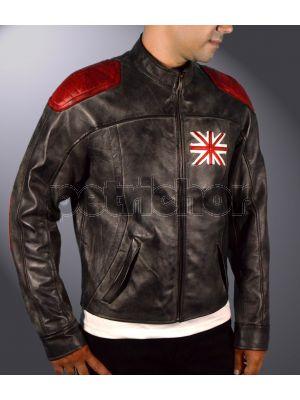 Kids Genuine Cowhide Leather Killing Floor 2 Mr Foster Dosh Cafe Racer Jacket