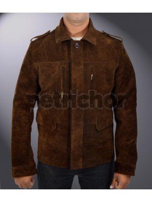 Genuine Cowhide Leather Christian Grey Fifty Shades Darker Jamie Dornan Jacket