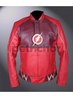 Kids Flash Barry Allen Grant Gustin Red Jacket