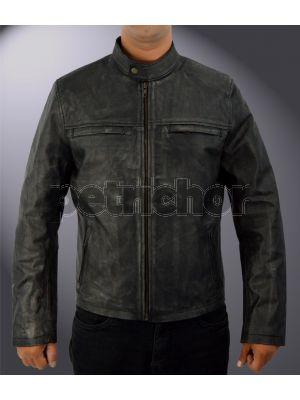 Genuine Cowhide Leather Aaron Taylor Johnson Godzilla Cafe Racer Jacket