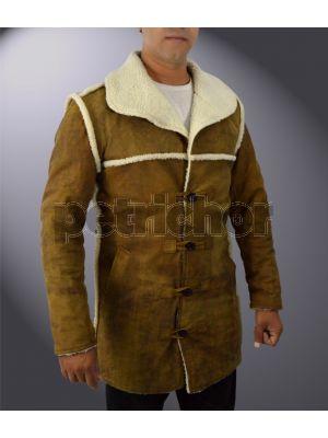 Genuine Cowhide Leather Hell On Wheels Anson Mount Cullen Bohannon Faux Fur Coat