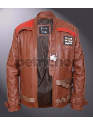 Star Wars The Force Awakens Finn John Boyega Open Front Flight Jacket