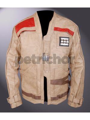 Genuine Waxed Leather Star Wars The Force Awakens Finn John Boyega Jacket
