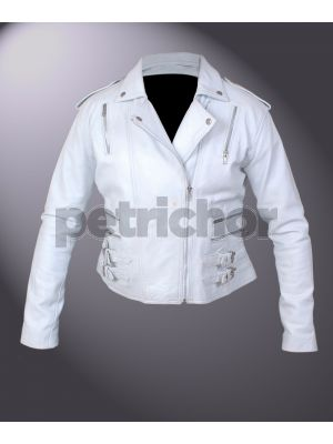 Women's Retro Brando The Wild One Inspired Biker Jacket