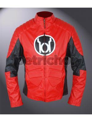 Kids Red Lantern Guy Gardner Cafe Racer Jacket