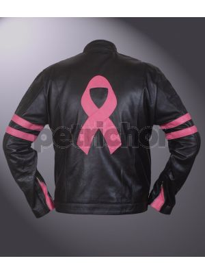 Retro Breast Cancer Support Cafe Racer Jacket